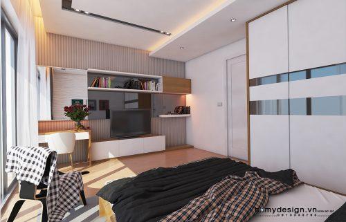Thiết kế nội thất nhà phố khu đô thị Đại Thanh – Mr Thụy