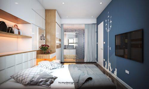 Thiết kế nội thất chung cư nhỏ 58m2 thêm thanh thoát