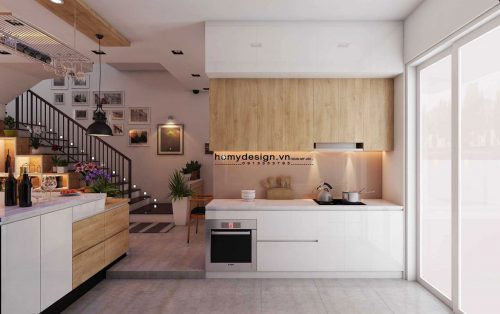 Thiết kế thi công nội thất nhà liền kề đô thị Park City hiện đại