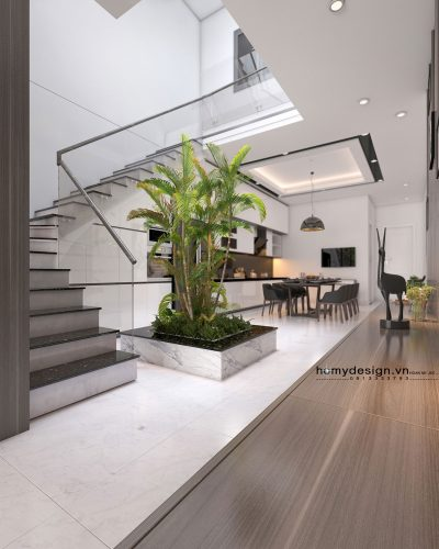 Thiết kế thi công nội thất nhà phố 5X23m Tp. Cao Bằng