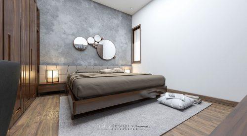 Thiết kế nội thất nhà phố gỗ óc chó Bắc Mỹ 4x10M Hà Nội