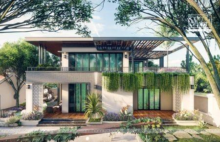 Thiết kế Biệt thự vườn nghỉ dưỡng tràn ngập KHÔNG GIAN XANH