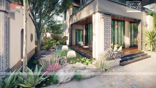 Thiết kế Biệt thự nghỉ dưỡng tràn ngập KHÔNG GIAN XANH