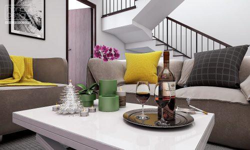 Thiết kế nội thất biệt thự – nhà phố LIỀN KỀ PARK CITY phong cách HIỆN ĐẠI