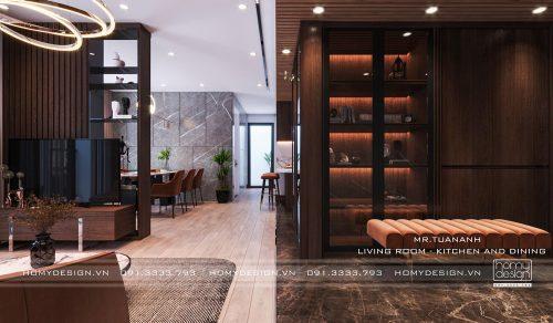 Thiết kế nội thất chung cư VINHOMES SMART CITY – 2 căn hộ đập thông