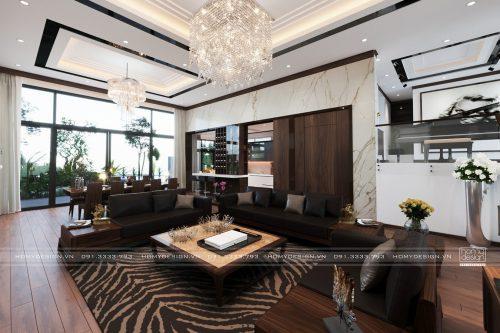 Thiết kế nội thất biệt thự cao cấp CIPUTRA Nam Thăng Long – Hà Nội